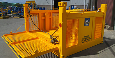 Subsea basket on land