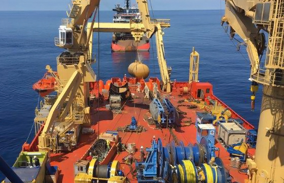 Back deck equipment used on Gulf of Mexico project