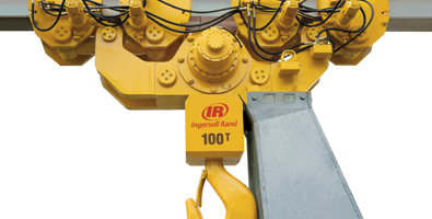 Close up of a BOP handling system
